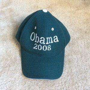 OBAMA 2008 Green Velcro Baseball Hat